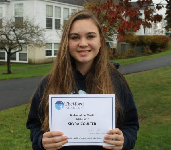 October Student of the Month: Skyra Coulter