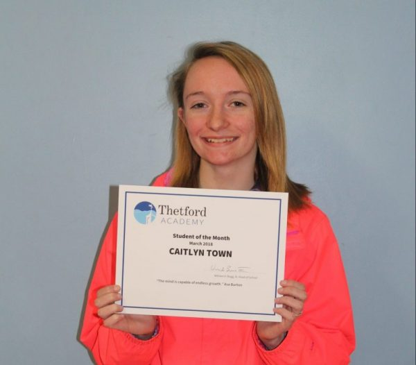 March Student of the Month: Caitlyn Town